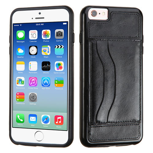 iPhone 6 6S Leather Backing Wallet Case with Stand