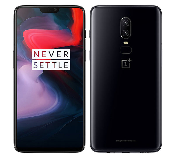 OnePlus 6 A6003 128GB Storage + 8GB RAM Android 8.1 US Version with Warranty (Mirror Black)