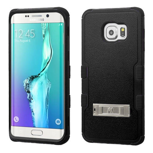 Galaxy S6 Edge Plus Impact Resistance Stand Case Black/Black