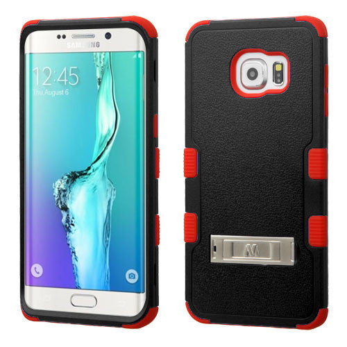 Galaxy S6 Edge Plus Impact Resistance Shockproof Cover Case with Stand Black/Red