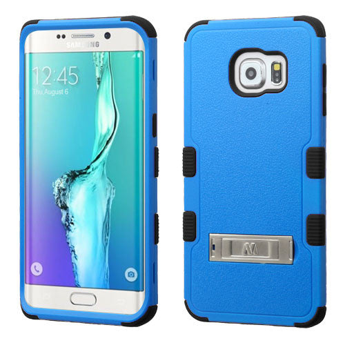 Galaxy S6 Edge Plus Impact Resistance Shockproof Cover Case /w Stand Blue/Black