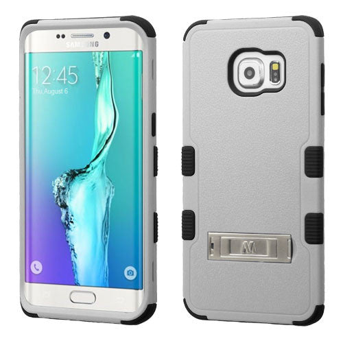 Galaxy S6 Edge Plus Impact Resistance Stand Case Gray/Black