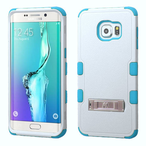 Galaxy S6 Edge Plus Impact Resistance Shockproof Cover Case w/ Stand White/Teal