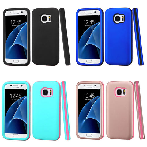 For Samsung Galaxy S7 Hybrid Shock Resistance Hard Cover Shockproof Case