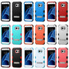 For Samsung Galaxy S7 Hybrid Dual Layer Hard Cover Shockproof Case with Stand
