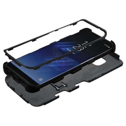 Samsung Galaxy S8 Plus Hybrid Cover Shockproof Protective Case with Stand Black