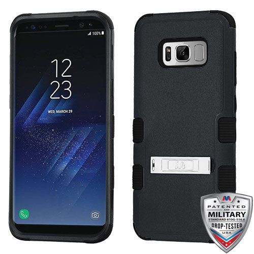 For Samsung Galaxy S8 Hybrid Cover Shockproof Protective Case with Stand Black