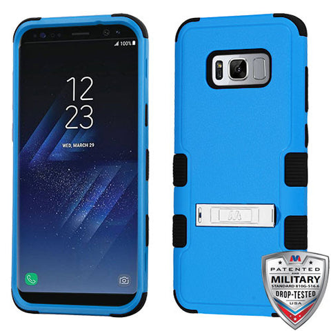 For Samsung Galaxy S8 Hybrid Cover Shockproof Protective Case with Stand Blue