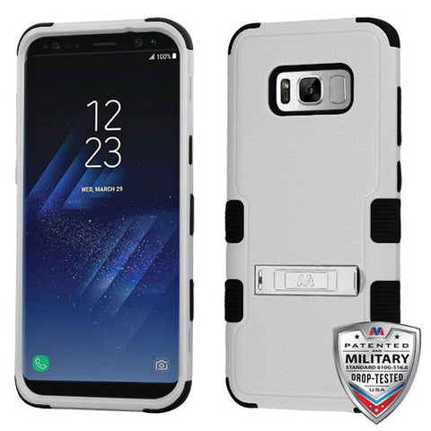 Samsung Galaxy S8 Plus Hybrid Cover Shockproof Protective Case with Stand Gray