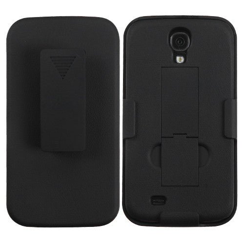 Samsung Galaxy S4 Back Hard Shell Stand Case with Belt Clip Holster