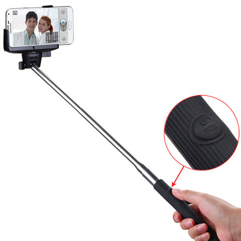 Wireless Mobile Phone Monopod with Bluetooth Shutter Control