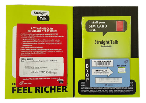 Straight Talk AT&T Nano SIM Card for GSM Network Activation Kit