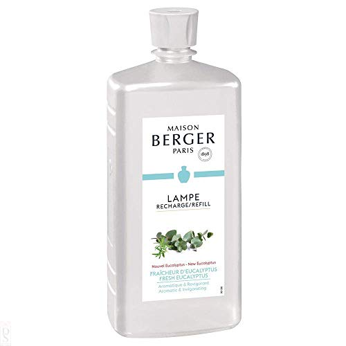 New Fresh Eucalyptus - Lampe Berger Fragrance Refill for Home Fragrance Oil Diffuser - 33.8 Fluid Ounces - 1 Liter