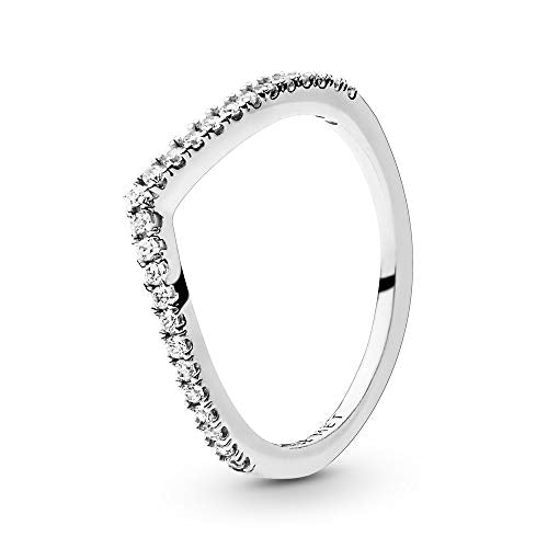 Pandora Jewelry Sparkling Wishbone Cubic Zirconia Ring in Sterling Silver