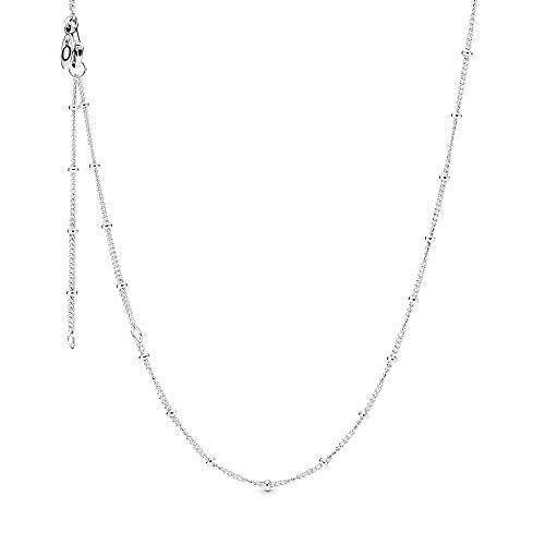Pandora Jewelry Beaded Sterling Silver Necklace, 27.6""