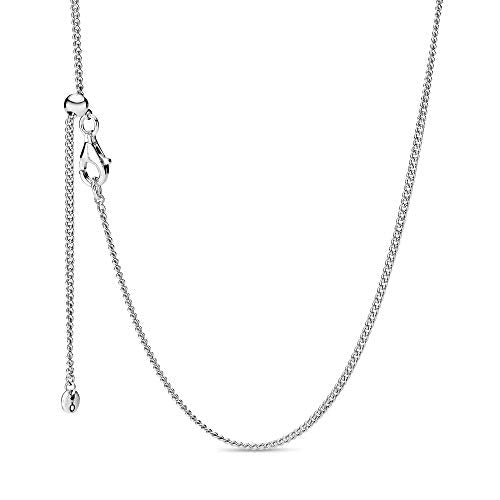 Pandora Jewelry Curb Chain Sterling Silver Necklace, 23.6""
