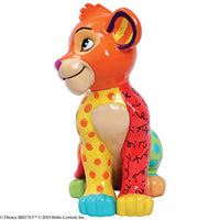Enesco Disney by Britto The Lion King Simba Miniature Figurine, 3.54 Inch, Multicolor