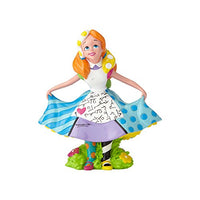 "Enesco Disney by Britto Alice Mini, 3.875"" Stone Resin Figurine, Multicoloured"