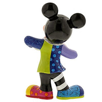 "Enesco Disney by Britto Mickey Mouse with Bling 90th Celebration, 10.5"" Stone Resin Figurine, Multicolor"