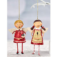Lori Mitchell Tree Trimming Ornaments Polyresin Set/2 11113