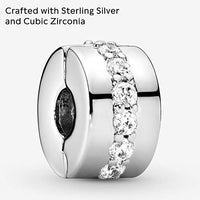 Pandora Jewelry Shining Path Clip Cubic Zirconia Charm in Sterling Silver