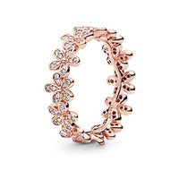 Pandora Jewelry Daisy Flower Cubic Zirconia Ring in Pandora Rose