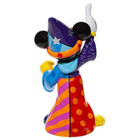 Enesco Disney by Romero Britto Fantasia Sorcerer Mickey Mouse Pointing Big Figurine, 14.8 Inch, Multicolor