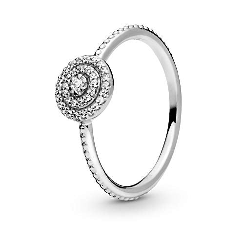Pandora Jewelry Elegant Sparkle Cubic Zirconia Ring in Sterling Silver