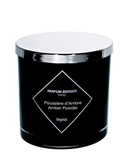 MAISON BERGER Amber Powder Candle, Black