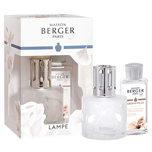 Lampe Berger Giftset - Aroma Relax - Oriental Comfort - Home Fragrance Diffuser - 10x8x6 inches - Includes Fragrance Essential Oil 180 milliliters - 6.08 Fluid Ounces