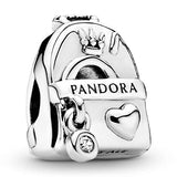 Pandora Jewelry Adventure Bag Cubic Zirconia Charm in Sterling Silver