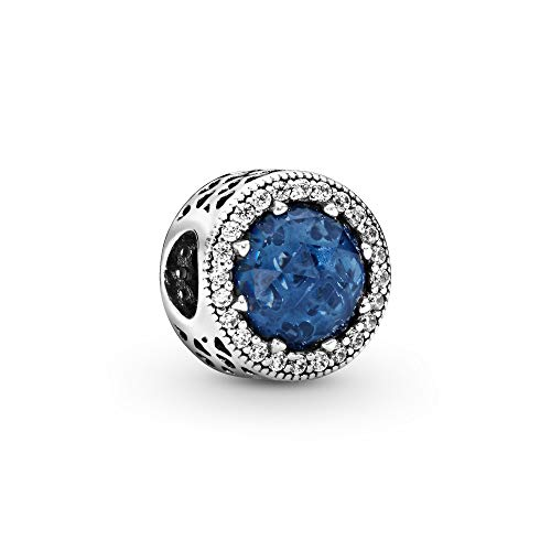 Pandora Jewelry Sparkling Dark Blue Crystal and Cubic Zirconia Charm in Sterling Silver