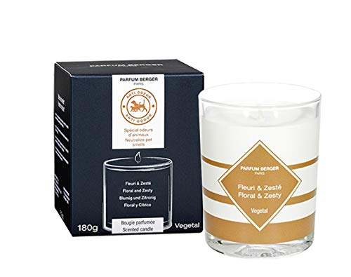 MAISON BERGER Floral & Zesty Candle, Anti Pet Odor
