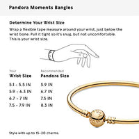 Pandora Jewelry Moments Bangle Charm Gold 14K Bracelet, 7.5""