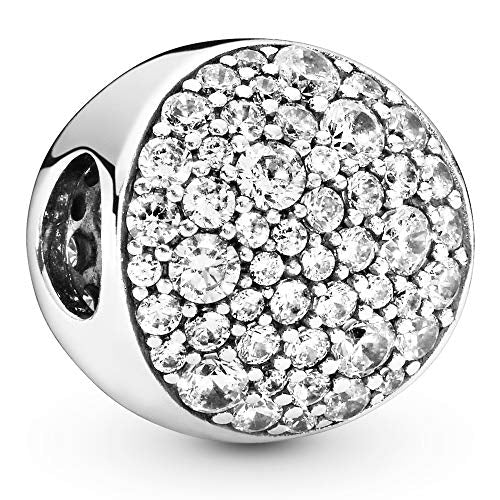 Pandora Jewelry Pave Sphere Cubic Zirconia Charm in Sterling Silver