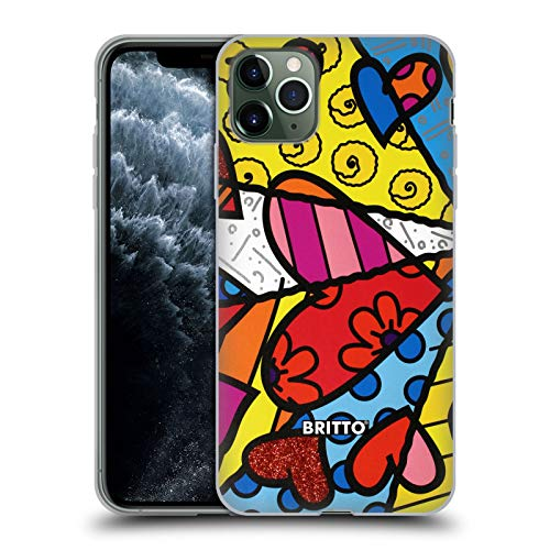 Head Case Designs Officially Licensed Britto Heart Abstract Illustrations Soft Gel Case Compatible with Apple iPhone 11 Pro Max