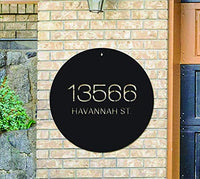 Custom Metal Address Sign - Modern Address Sign - Metal House Numbers - Outdoor Metal Sign - Address Plaque - Housewarming Gift - Art Deco