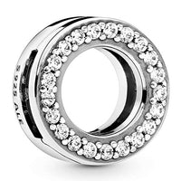 Pandora Jewelry Clip Cubic Zirconia Charm in Sterling Silver