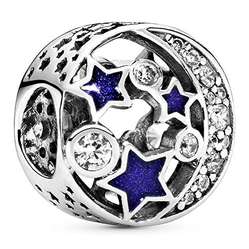Pandora Jewelry Vintage Night Sky Cubic Zirconia Charm in Sterling Silver