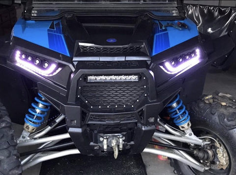 Polaris RZR Terminator Series Headlights [RGB HALO]