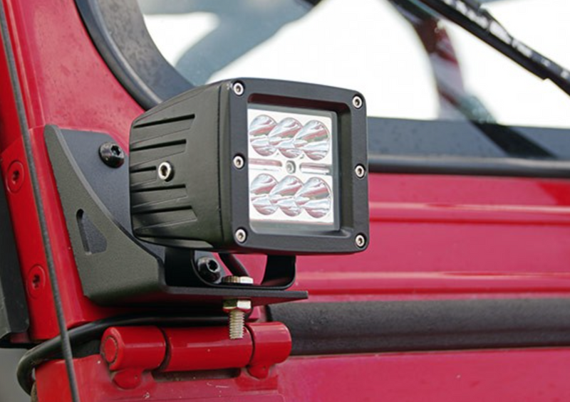 JEEP YJ  WINDSHIELD LIGHT MOUNT