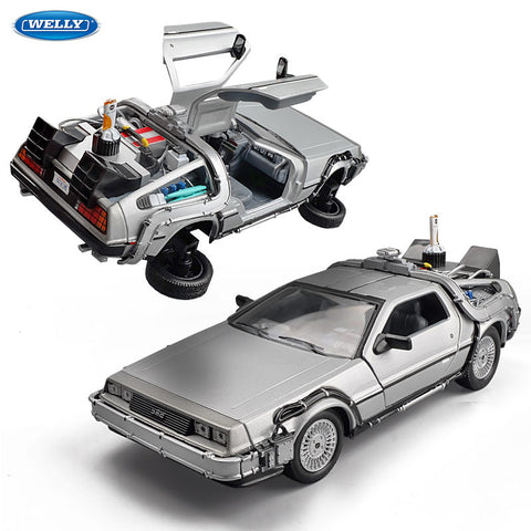 1:24 Diecast Model Car DMC-12 Delorean Back to the Future Time Machine