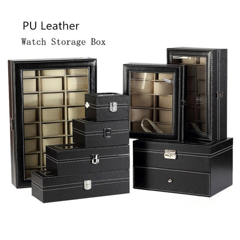Leather Watch Storage Box