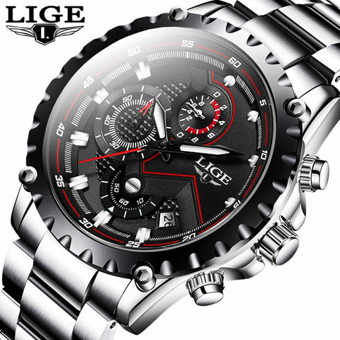 LIGE Fashion Quartz Sports Watch