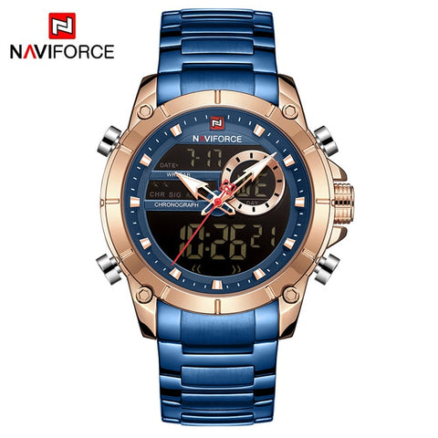 NAVIFORCE Military Sport Wristwatch Dual Display