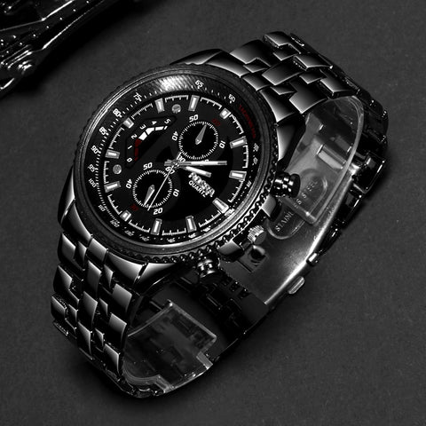 Black Luxury Men's Watch