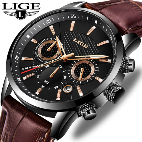 LIGE Luxury Military Sport Watch