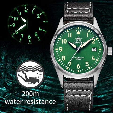 Sapphire Crystal Stainless Steel Sports Watch for Men