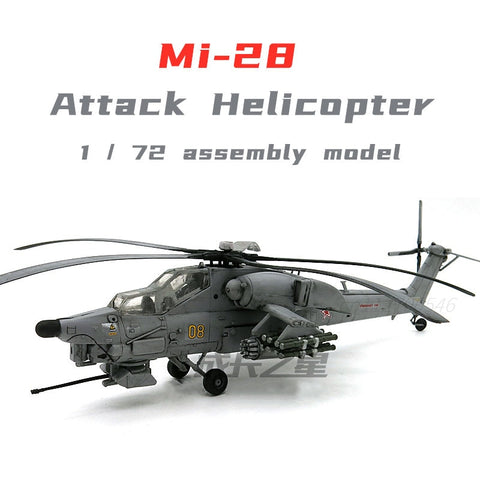 1/72 Mi-28 Havoc Anti-Tank Attack Helicopter Military Model