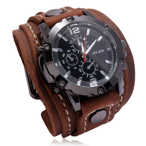 Luxury Wristwatch with Leather Band